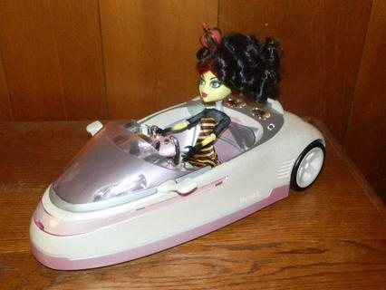 Free Future Car For Monster High Or Bratz Doll Not Included