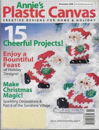 4 Vintage Issues Annie's Plastic Canvas Magazines w/ Patterns