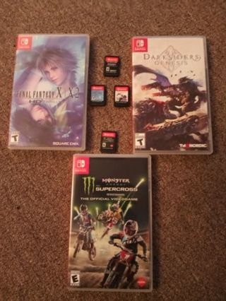 4 Nintendo Switch games