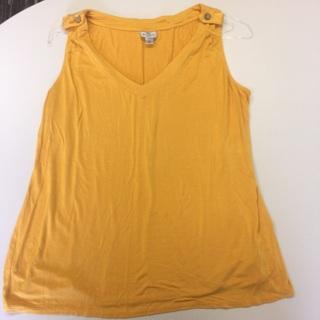 Women's Size 1x Yellow Top By Worthington Woman