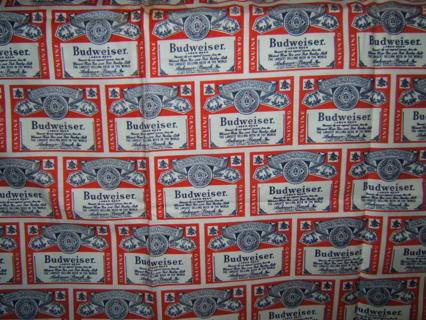 Budweiser Logo Fabric