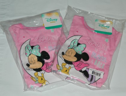 New Lot of 2 Sets~Minnie Mouse Baby Girls' Pajamas, 2-Piece Set Size 9 Month
