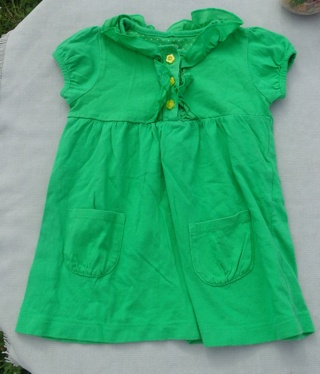 Carter's Green Dress - Size 12 Months - FREE Shipping w GIN!