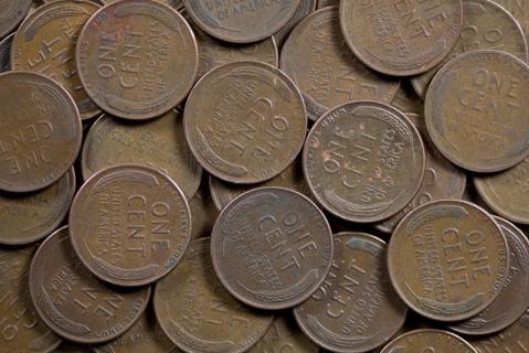 2 random year wheat pennys