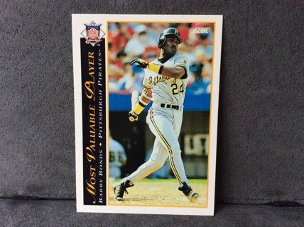 Free Barry Bonds Mvp 1993 Score Baseball Card 482