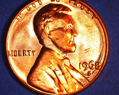 1968 s uncirculated lincoln penny