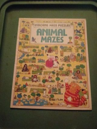 Usborne Maze Puzzle book Animal mazes