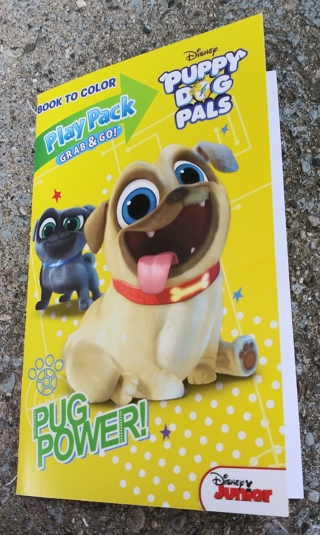 SMALL COLORING BOOK DISNEY PUPPY DOG PALS WITH STICKERS USE YOUR OWN CRAYONS