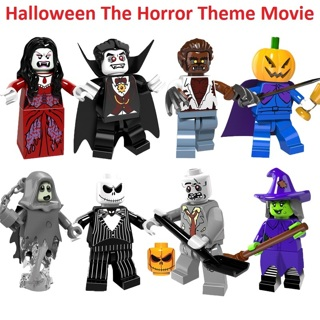 Halloween The Horror Theme Movie Vampire Count Zombie Queen Akasha Jack Building Blocks Kids Toys