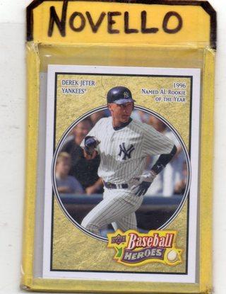 Derek Jeter - 2008 Upper deck Baseball Heroes - Mint - Yankees .. Free S/H