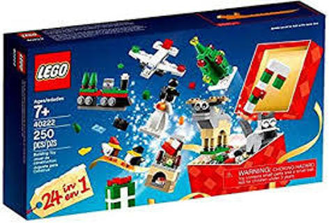 LEGO 40222 Christmas Build Up Advent 24 in 1 Holiday Countdown