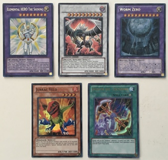 Yu-Gi-Oh Elemental Hero, Malefic Paradox Dragon Limited Edition and more Trading Cards Lot of 5!