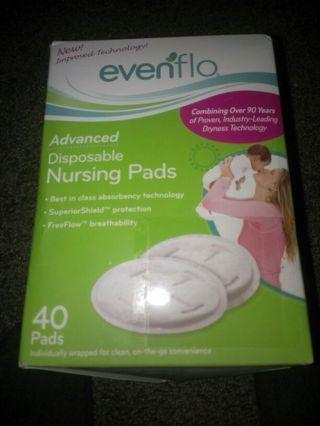 Evenflo Advanced Disposable Nursing Pads NEW 40-ct Box for Nursing/Pumping/Breastfeeding Moms!