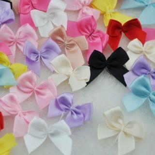 30Pcs Mini Satin Ribbon Flowers Bows Gift Craft Wedding Decoration
