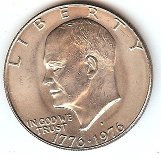 """Bi-centennial Eisenhower """"IKE"""" Dollar"""