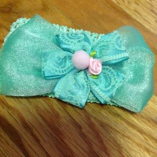 Beautifully Crocheted Children's Headband.