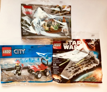 LEGO Lot of 3 (three) Polybags ~ NEW