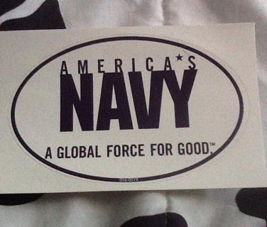 America's Navy sticker