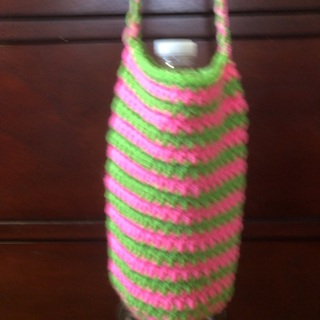 Spring Collection ❤️Hand Crochet Water Bottle Cozy .