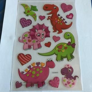 ★❉ Love Dino's Dinosaurs Glitter Kawaii Cute Sticker sheet NEW ❉★