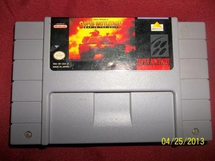 SNES Super Nintendo Game: Super Battletank War in the gulf