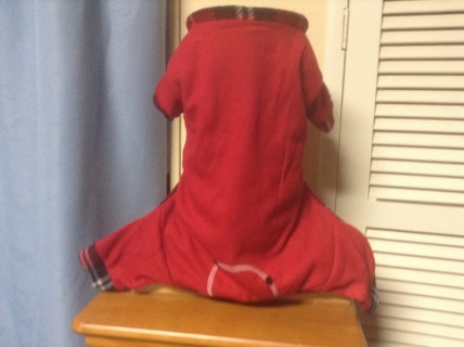 Red Thermal Pajamas for Your Dog-Medium(new with tag)