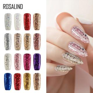 ROSALIND Hybrid Varnishes Soak Off Gel UV Gel lak Nail Polish Set For Manicure Semi Permanent Nail