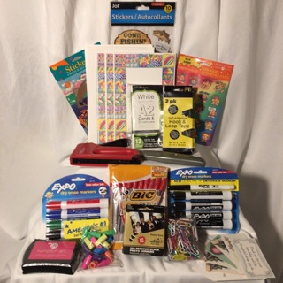 Home & Office Lot Staple GunTools Markers Stationary Stickers & JUST ADDED 5 STAMPED ENVELOPES!!!