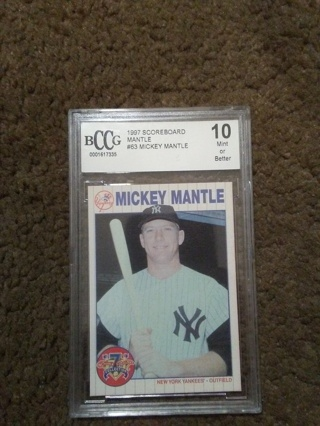 1997 Mickey Mantle Becket Graded 10 Card.