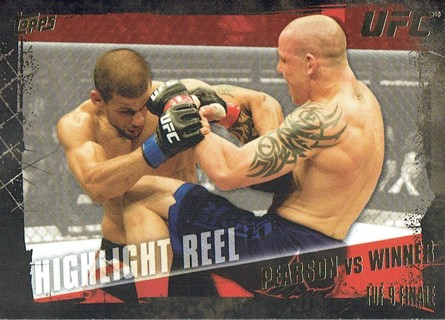 UFC TDF 9 Finale MMA 2010 Topps Collectible Trading Card (Thick Card) Pearson VS Winner #199