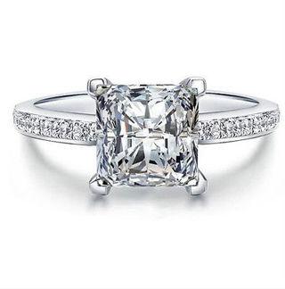 Size 7 2CT Princess Cut Lab created Diamond Ring!!!
