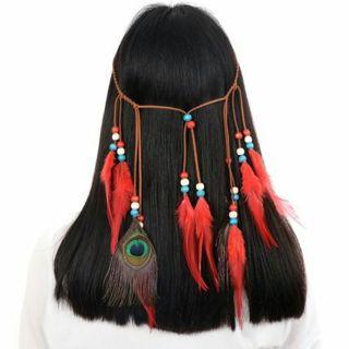 Dreamcatcher Feather Headband Hair Accessories Festivals Raves Boho Dreamcatcher