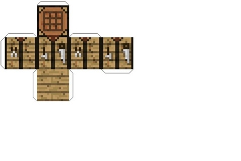 Free Minecraft Papercraft Crafting Table Other Video Game