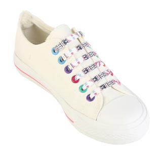 16pcs/set Elastic Silicone Unisex No Tie Shoelaces Fashion Printing Creative Shoes Lace Fit All Shoe