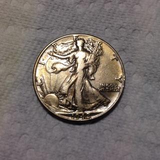 1942 Half Dollar 90% Silver