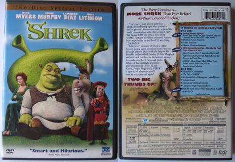 SHREK DVD (2001) 2 DISC SPECIAL EDITION