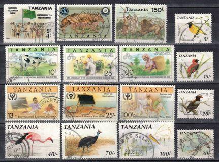 Tanzania w SemiPostal, Birds, High Values