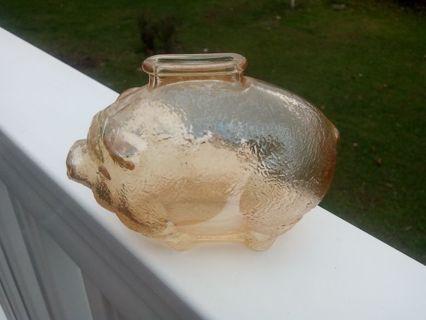 1937 VINTAGE ANCHOR HOCKING CARNIVAL GLASS.PIGGY BANK. LANCASTER OH