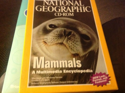 NATIONAL GEOGRAPHIC CD-ROM- MAMMALS A MULTIMEDIA ENCYCLOPEDIA
