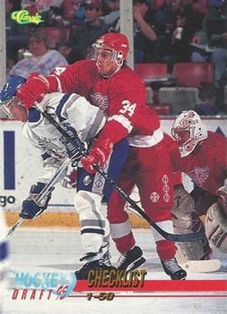 1995 Classic Hockey Draft Checklist #99 1-50