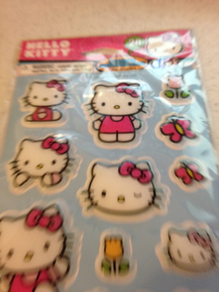 """NIP """"Hello Kitty"""" Stickers 3D 28 Stickers 2 sheets"""