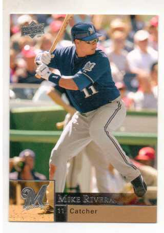 2009 UPPER DECK MIKE RIVERA ~ MILWAUKEE BREWERS