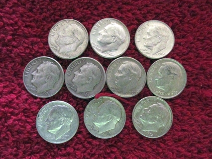 Free: 10 Random Silver (1946 -1964) Roosevelt Dimes - $1 00 Face