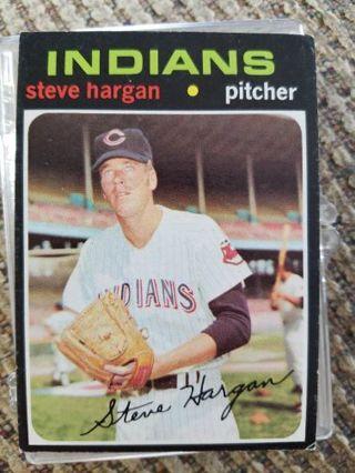 1971 Topps baseball Steve Hargan Indians