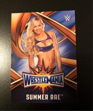 WWE Topps Road To Wrestlemania 2017 Summer Rae #WMR-50