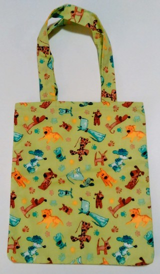 *Puppy Print Tote Bag - One of a kind, 100% Handmade by Bravissimo Designs!