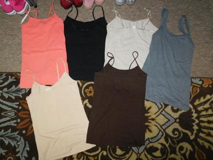 6 Womens Tank Top Stretchy Cami Shirts