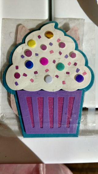 Handmade cupcake greeting card
