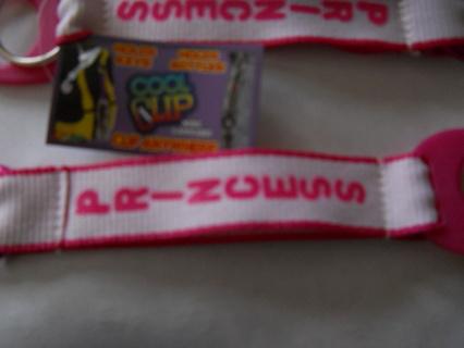 cool clip key ring, water bottle holder, PRINCESS