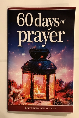 "Brand New 61 Page Paperback ""60 Days of Prayer"" Positive Messages Everyone Can Use"